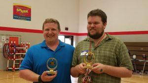 group portrait holding awards