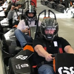 group driving go-karts