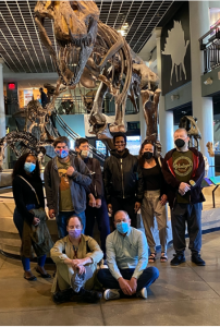 photo of group at academy of natural sciences museum